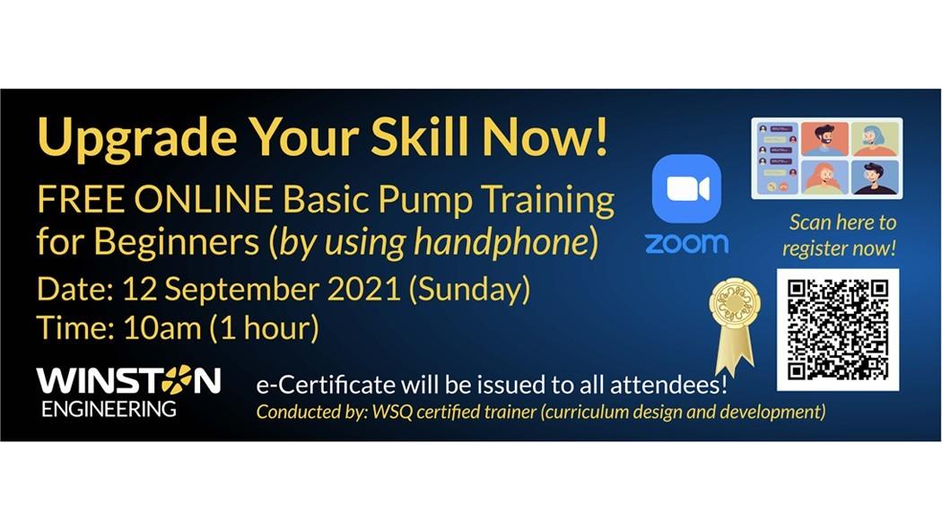 Online Basic Pump Training for Beginners, 12 Sep 2021, 10am