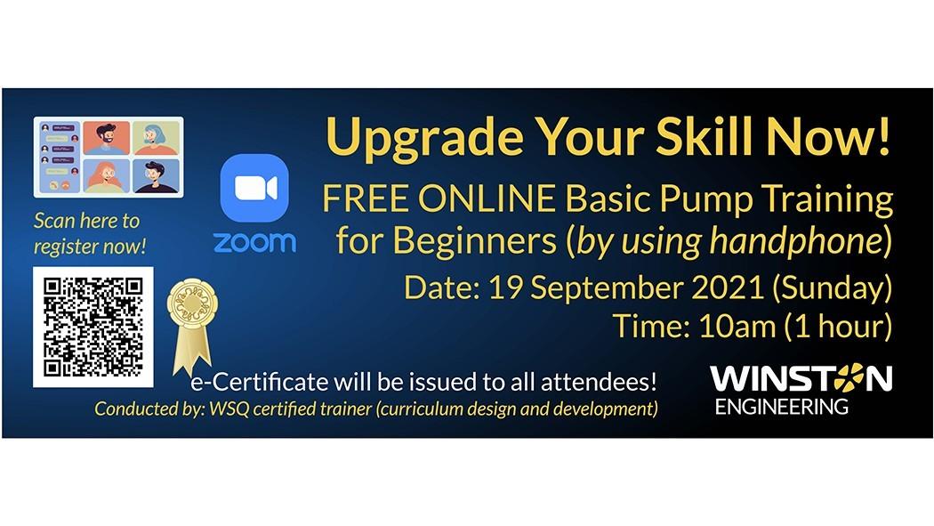 Online Basic Pump Training for Beginners, 19 Sep 2021, 10am